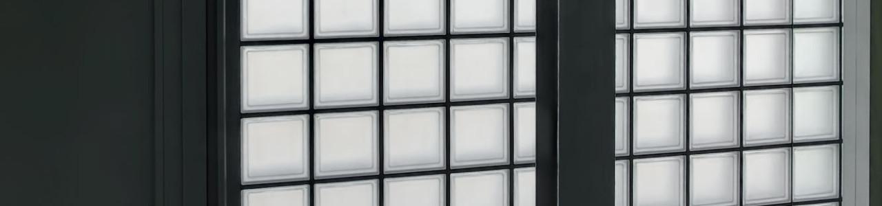 à propos de Verhaert - Scheidingswand in glastegels   glasdals   glazenbouwstenen